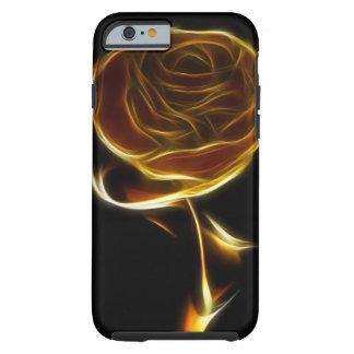 Rosa de oro diseñado con software del vector funda para iPhone 6 tough