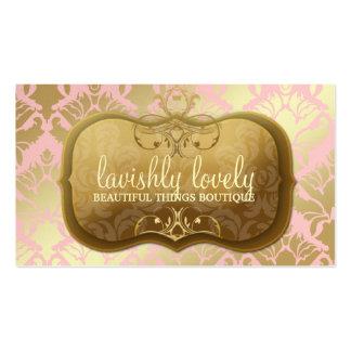 Rosa de oro pródigo del polvo del reflejo del tarjetas de visita