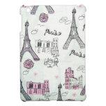Rosa de París de la torre Eiffel iPad Mini Protectores