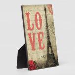 Rosa de París el | del vintage Placa De Plastico