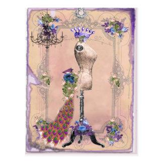 Rosa de París Tarjetas Postales