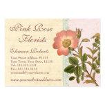 Rosa de perro rosado elegante del vintage lamentab plantilla de tarjeta personal