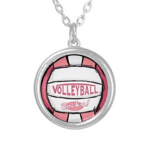 Rosa de rocas del voleibol pendientes personalizados