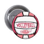 Rosa de rocas del voleibol pin