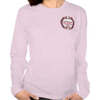 Rosa de rocas del voleibol t shirt