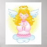 Rosa de rogación del ángel poster