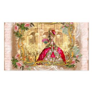 rosa de rosas de oro del marie de Versalles que en Plantilla De Tarjeta De Visita