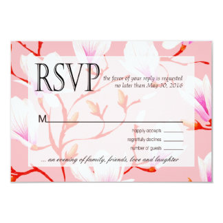 """Rosa de RSVP el   del jardín de flores de la Invitación 3.5"""" X 5"""""""
