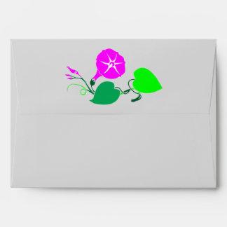 Rosa de seda grabado:  Flor en aleta Sobres