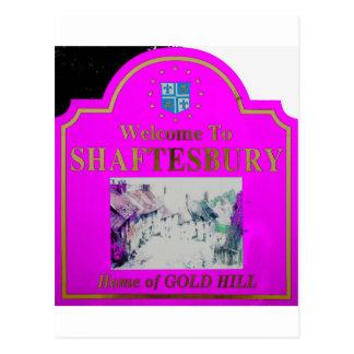 Rosa de Shaftesbury Tarjeta Postal