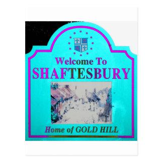 Rosa de Shaftesbury Torquise Tarjeta Postal