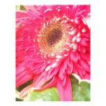 Rosa de Somadlyinlove y floral verde Membrete Personalizado