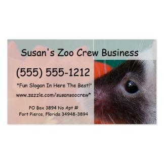 Rosa de té anaranjado del ratón blanco y negro tarjeta de visita