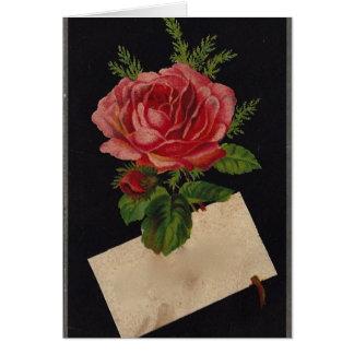 Rosa de té clásico del Victorian Felicitaciones