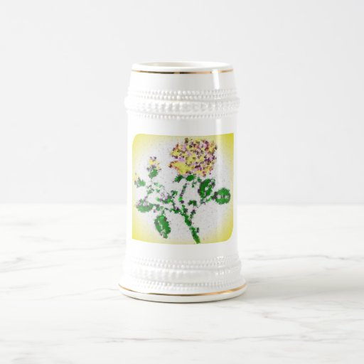 Rosa de té tazas