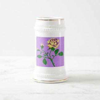 Rosa de té tazas de café