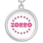 Rosa de Zorro Flores Collar Personalizado