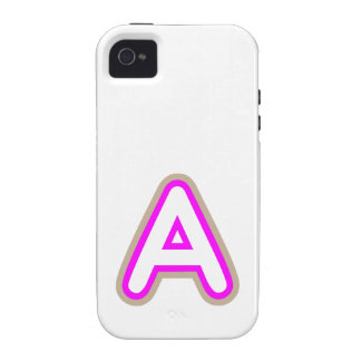 ROSA DEL AAA DE LOS ALFABETOS Case-Mate iPhone 4 CARCASAS