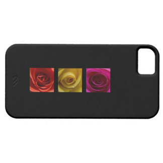 Rosa del amarillo anaranjado de los rosas del funda para iPhone 5 barely there