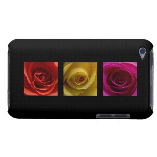 Rosa del amarillo anaranjado de los rosas del tríp iPod touch Case-Mate carcasas