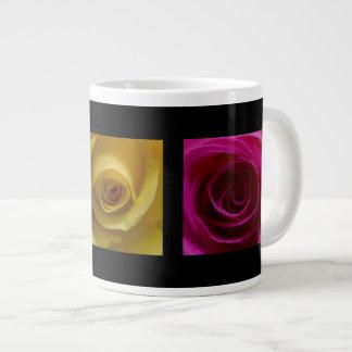 Rosa del amarillo anaranjado de los rosas del tríp taza grande