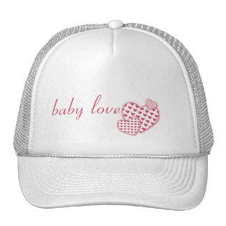 Rosa del amor del bebé gorra