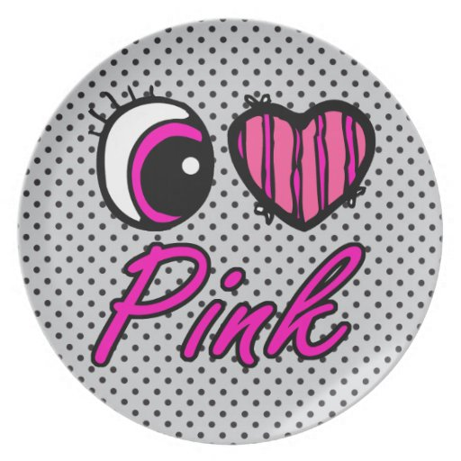 Rosa del amor del corazón I del ojo de Emo Platos