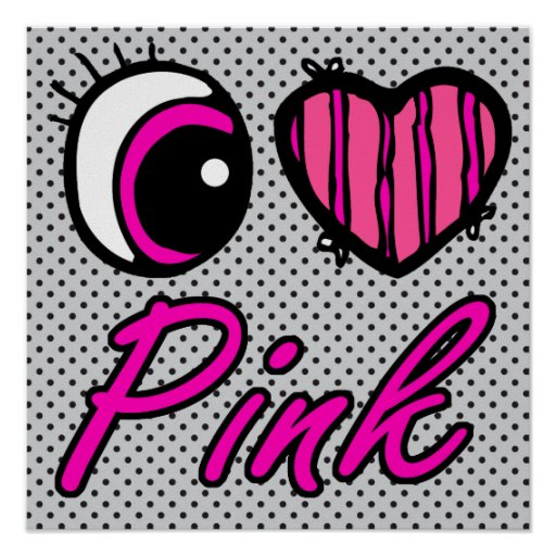 Rosa del amor del corazón I del ojo de Emo Posters