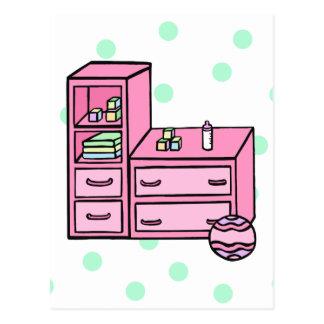 rosa del aparador tarjeta postal