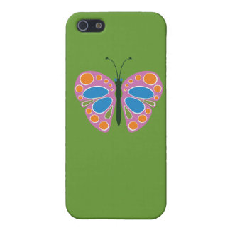 Rosa del atasco de la mariposa iPhone 5 carcasas
