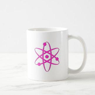 rosa del átomo tazas de café