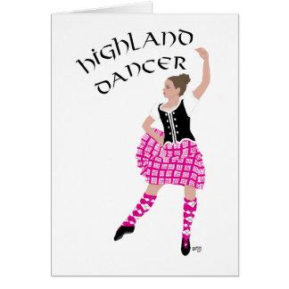 Rosa del bailarín de la montaña tarjeta de felicitación