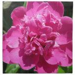 Rosa del bonito del Peony Servilletas Imprimidas