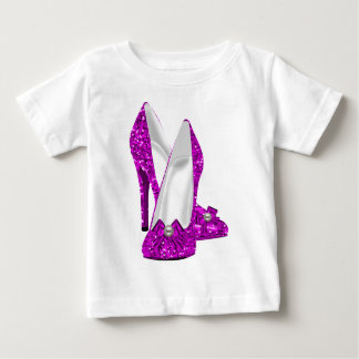 Rosa del brillo de Stileto de los zapatos del Camisas
