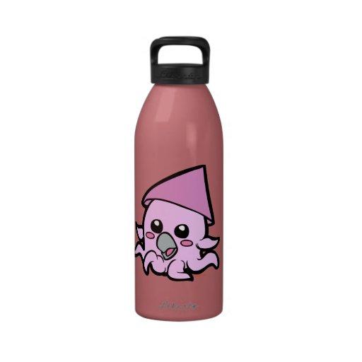 Rosa del calamar del bebé botallas de agua