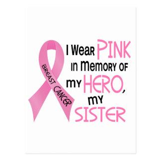 ROSA del cáncer de pecho EN MEMORIA de MI HERMANA  Tarjeta Postal