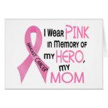 ROSA del cáncer de pecho EN MEMORIA de MI MAMÁ 1 Tarjetón