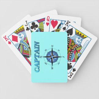 Rosa del capitán y de compás baraja de cartas