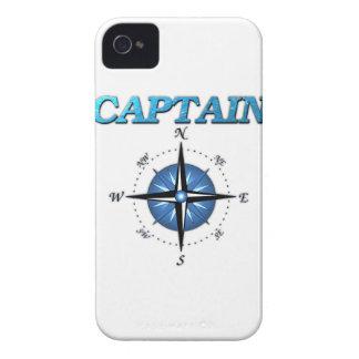 Rosa del capitán y de compás iPhone 4 carcasas