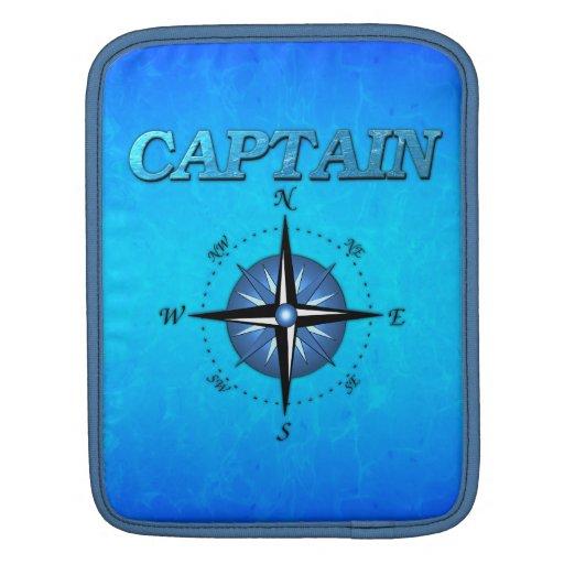 Rosa del capitán y de compás manga de iPad