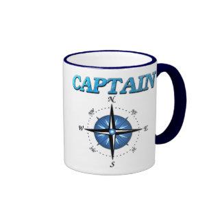 Rosa del capitán y de compás taza a dos colores