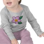 Rosa del caramelo del flor 07 camiseta