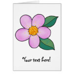 Rosa del caramelo del flor 07 felicitación