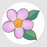 Rosa del caramelo del flor 07 pegatina