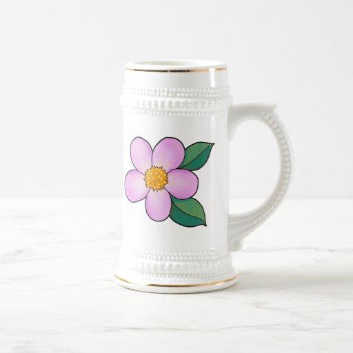 Rosa del caramelo del flor 07 tazas