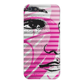 Rosa del caso del iPhone 4 de la cara de la bellez iPhone 5 Carcasas