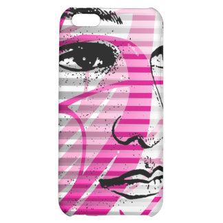 Rosa del caso del iPhone 4 de la cara de la bellez