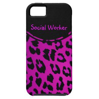 Rosa del caso del iPhone 5 del leopardo del asiste iPhone 5 Case-Mate Coberturas