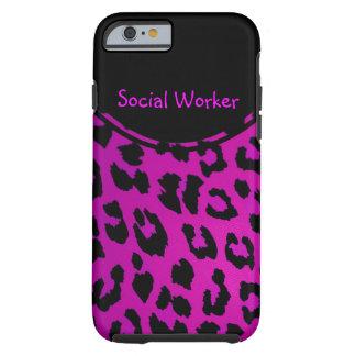 Rosa del caso del iPhone 6 del leopardo del Funda De iPhone 6 Tough
