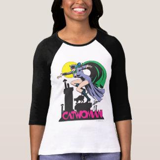 Rosa del Catwoman y del logotipo Remera